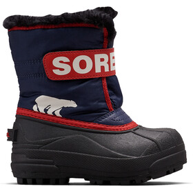 Sorel Snow Commander Botas Niños, nocturnal/sail red